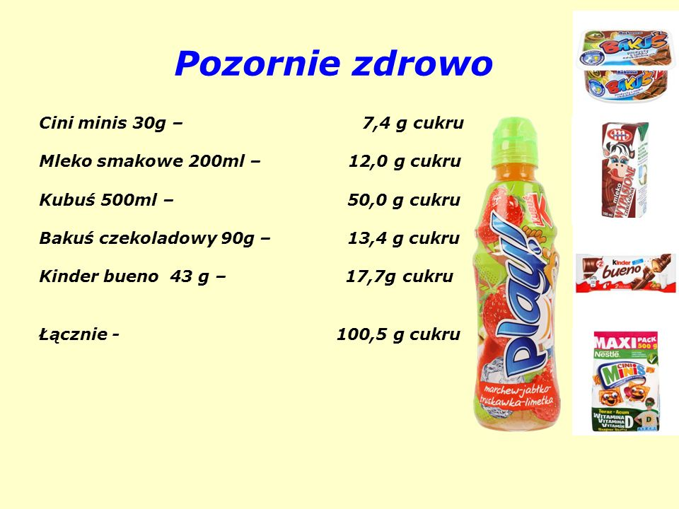 Pozornie zdrowo Cini minis 30g – 7,4 g cukru