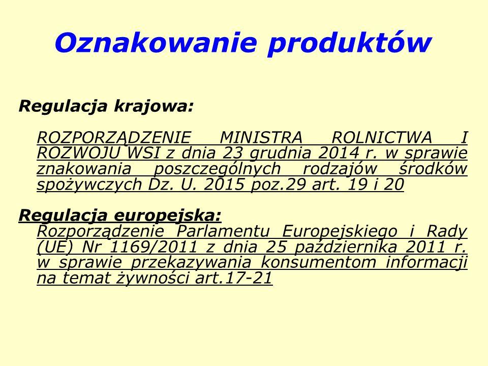 Oznakowanie produktów