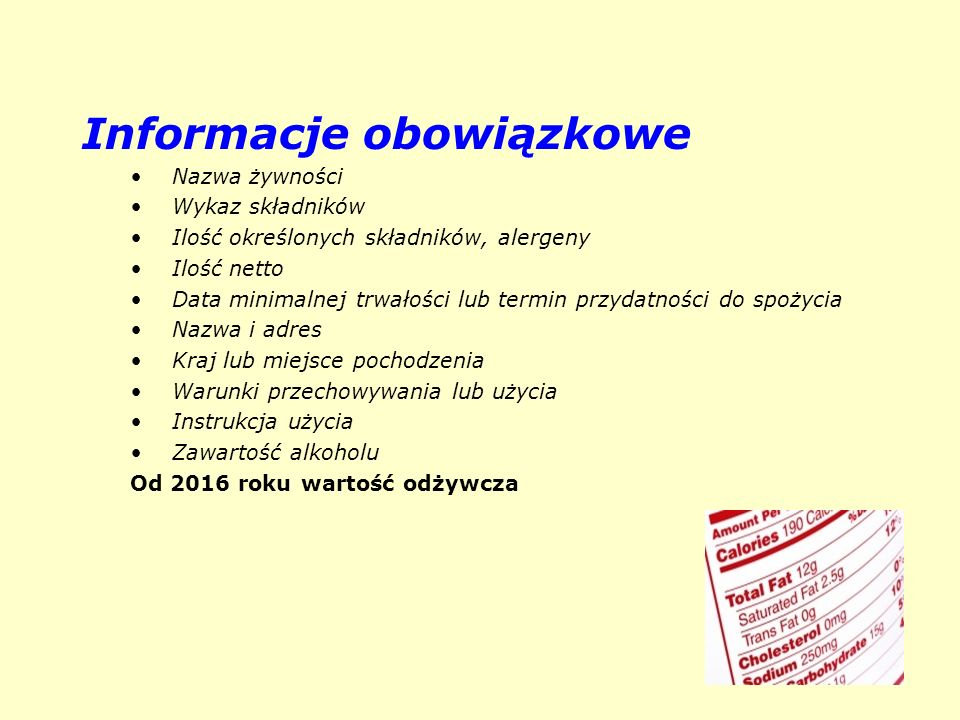 Informacje obowiązkowe