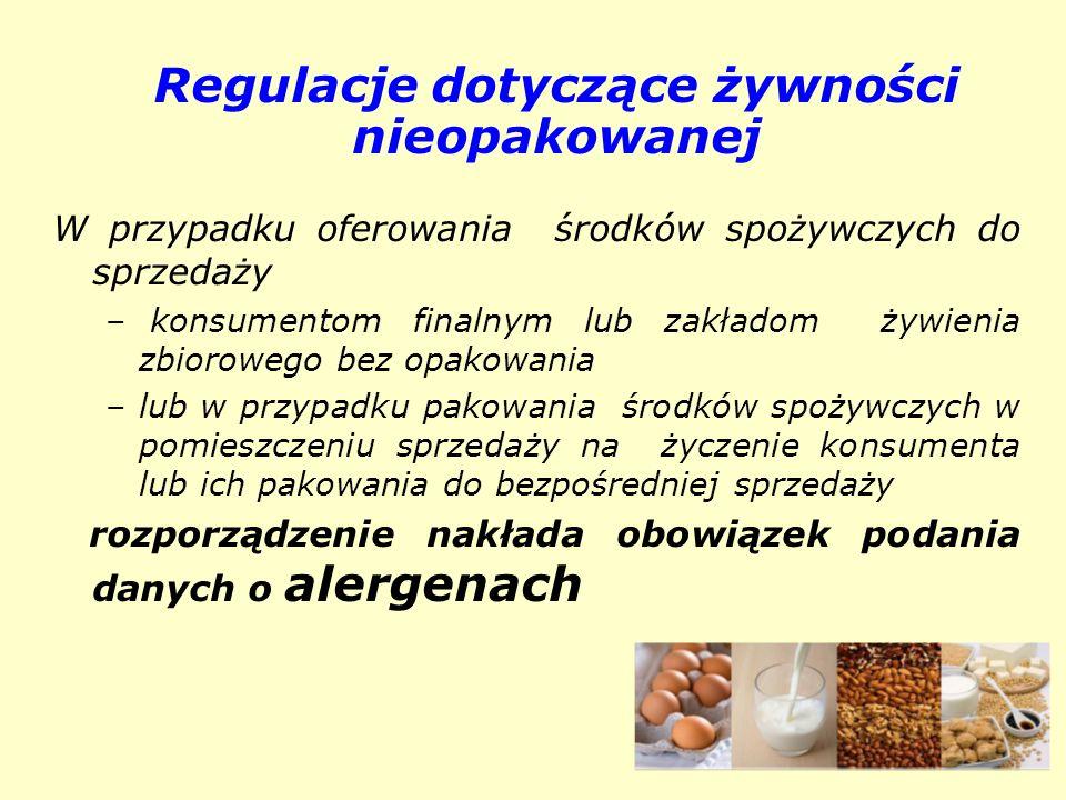 Regulacje dotyczące żywności nieopakowanej