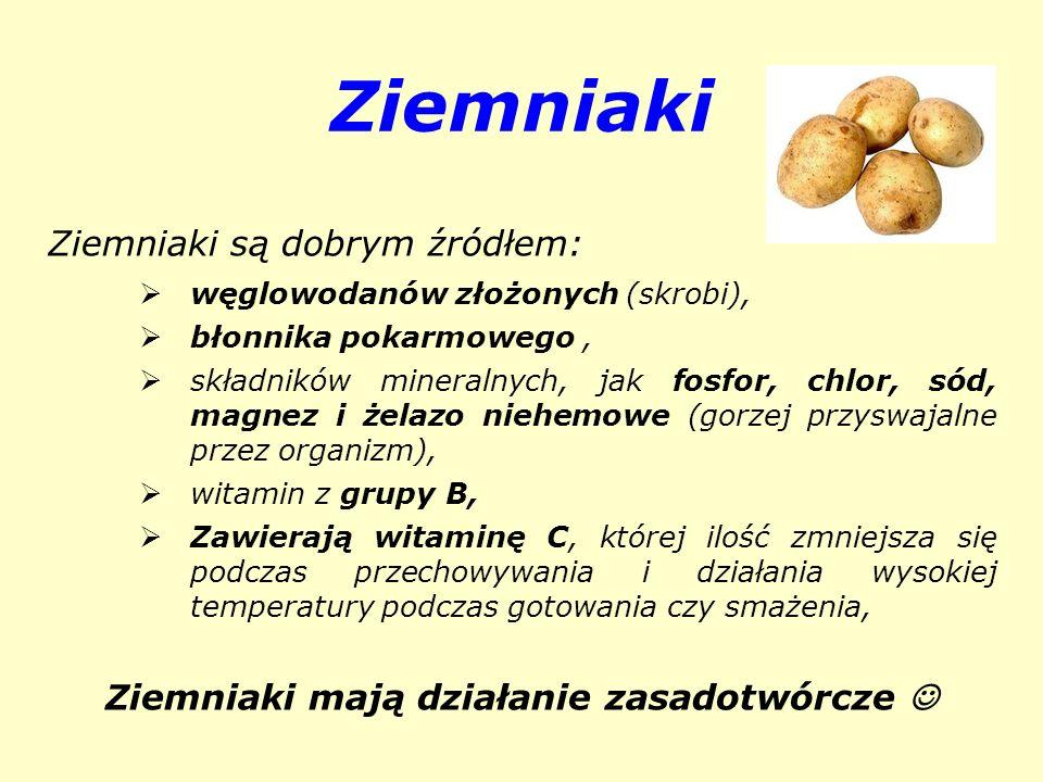 Ziemniaki mają działanie zasadotwórcze 
