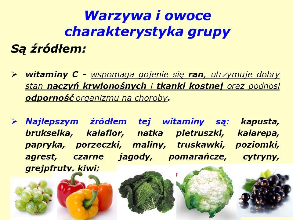 Warzywa i owoce charakterystyka grupy