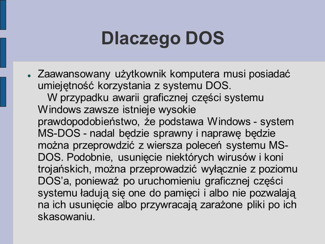 Dlaczego DOS