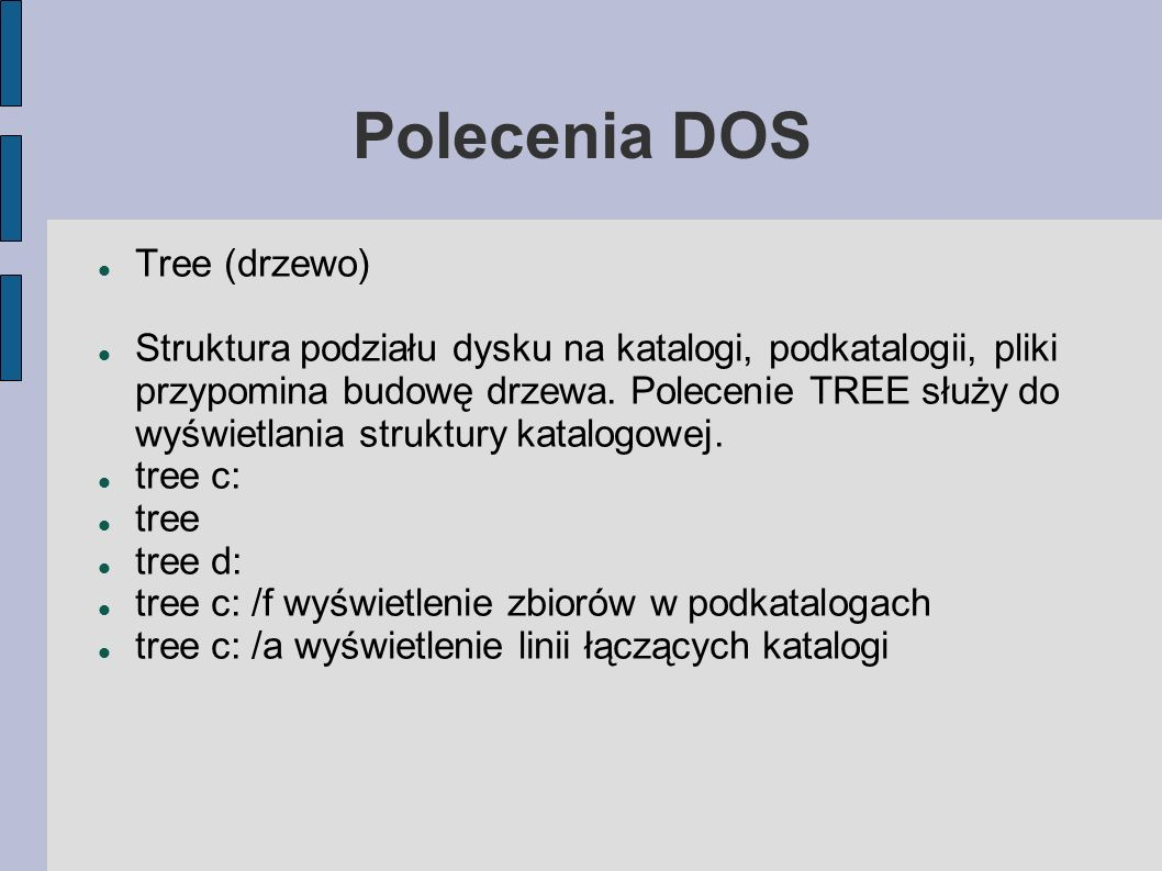 Polecenia DOS Tree (drzewo)