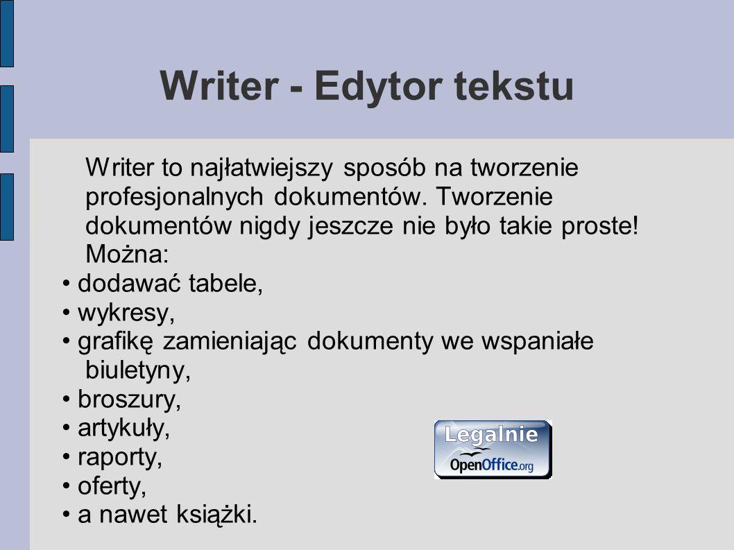 Writer - Edytor tekstu