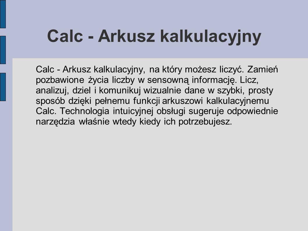 Calc - Arkusz kalkulacyjny