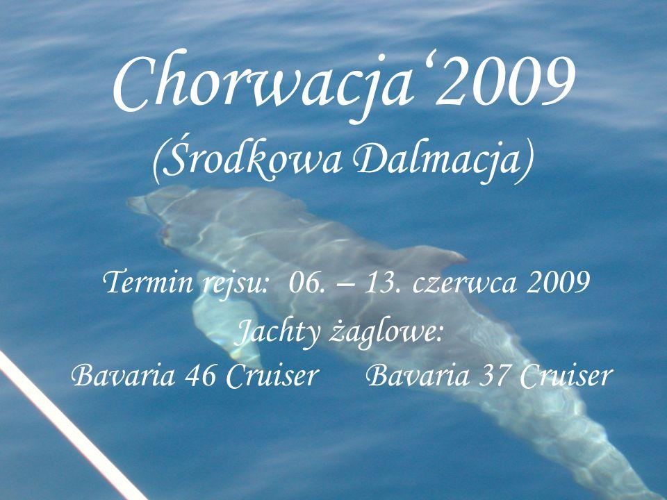 Chorwacja'2009 (Środkowa Dalmacja) Termin rejsu: 06. – 13