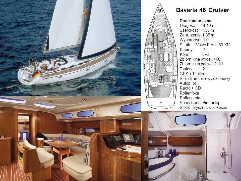 Bavaria 46 Cruiser Dane techniczne: Długość: 14.40 m Szerokość: 4.35 m