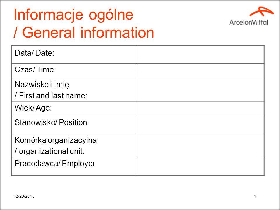 Informacje ogólne / General information