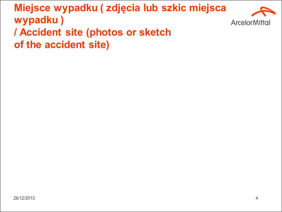 Miejsce wypadku ( zdjęcia lub szkic miejsca wypadku ) / Accident site (photos or sketch of the accident site)
