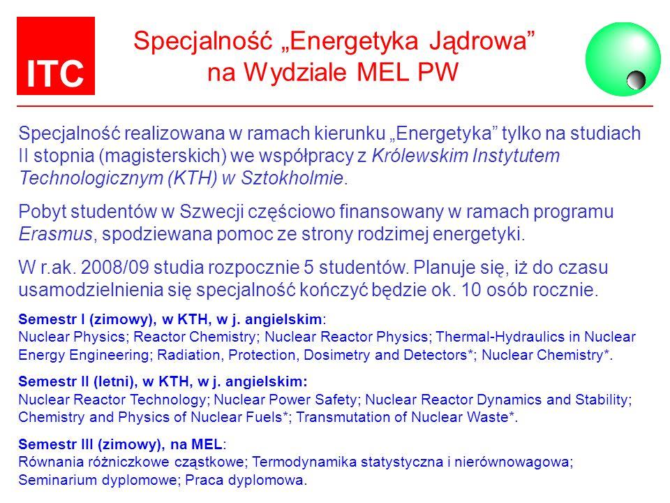 """Specjalność """"Energetyka Jądrowa na Wydziale MEL PW"""