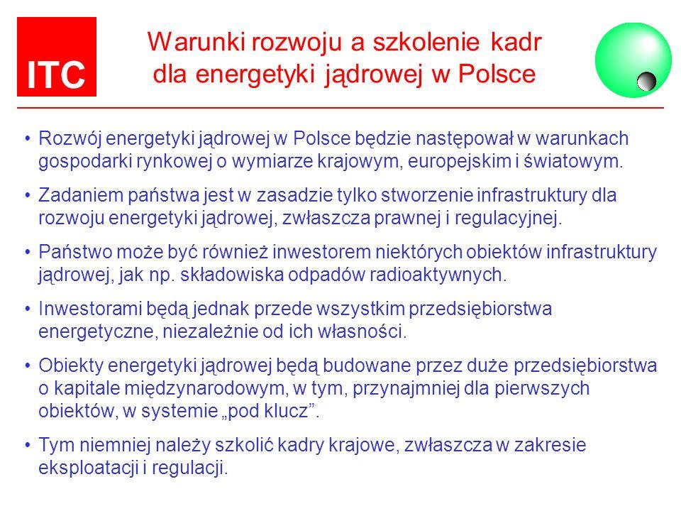 Warunki rozwoju a szkolenie kadr dla energetyki jądrowej w Polsce