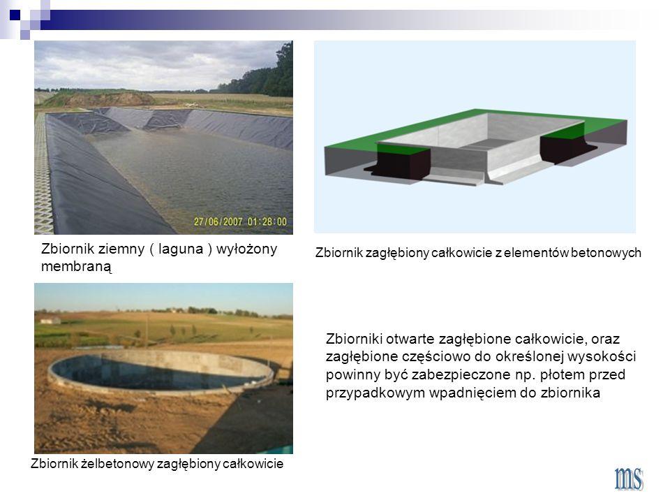 Zbiornik ziemny ( laguna ) wyłożony membraną