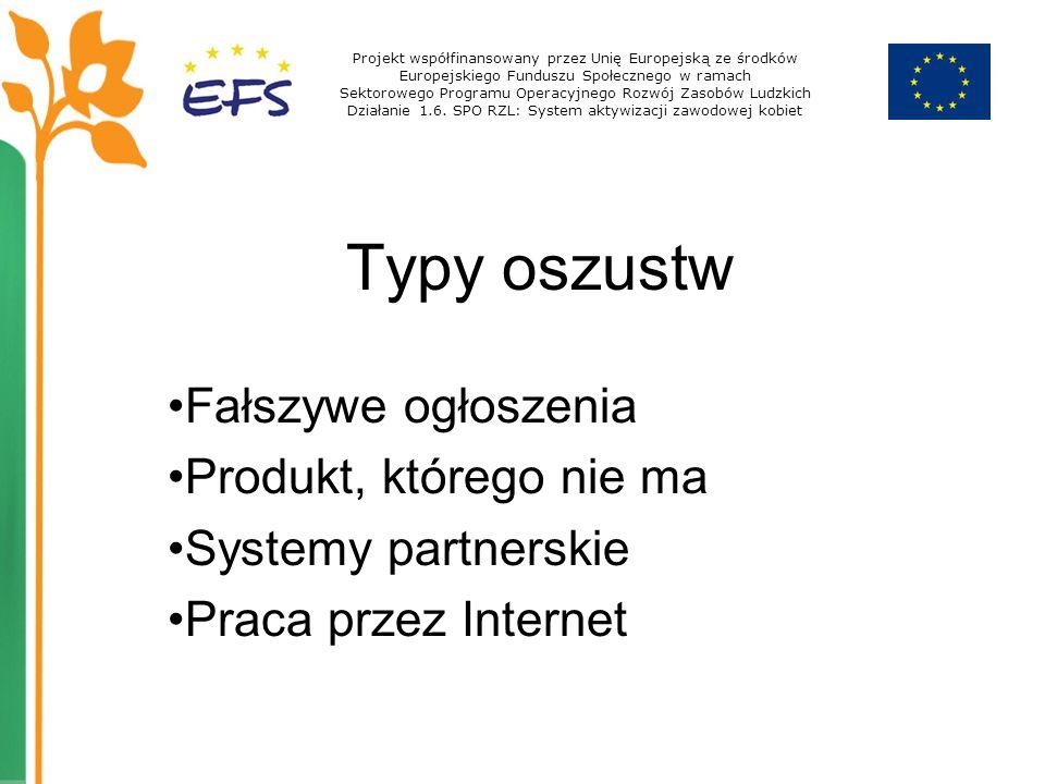 Działanie 1.6. SPO RZL: System aktywizacji zawodowej kobiet