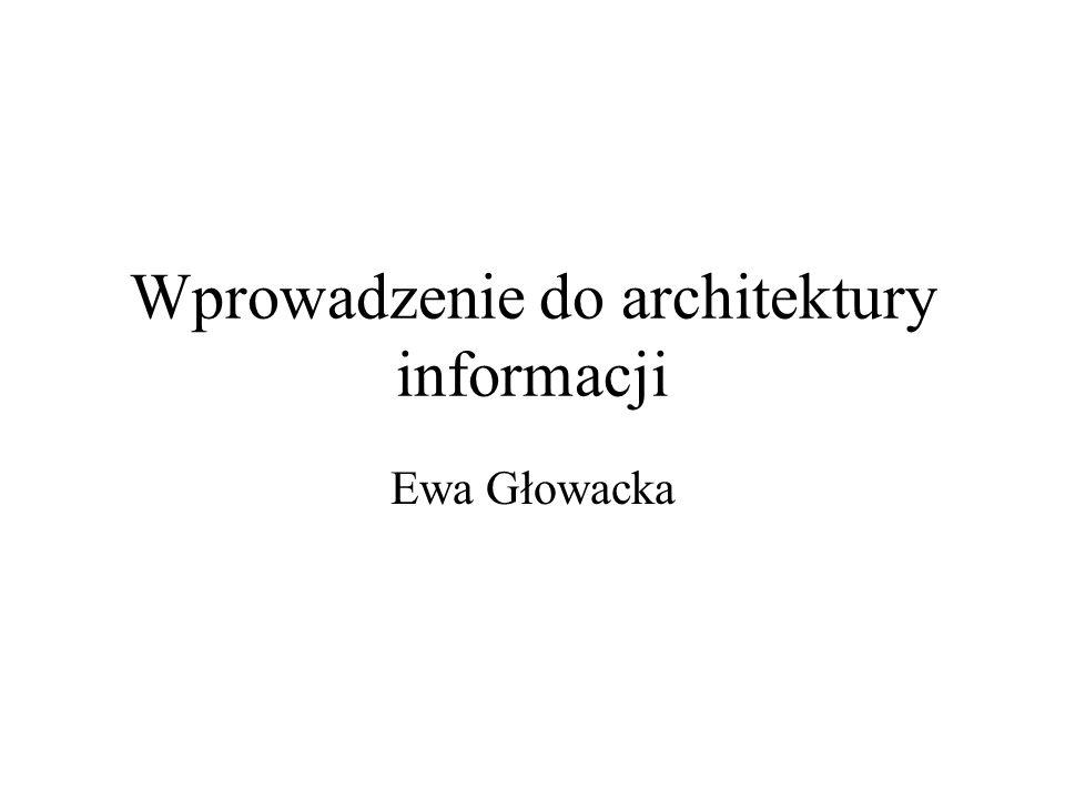 Wprowadzenie do architektury informacji