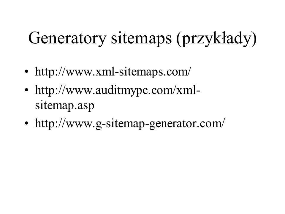 Generatory sitemaps (przykłady)