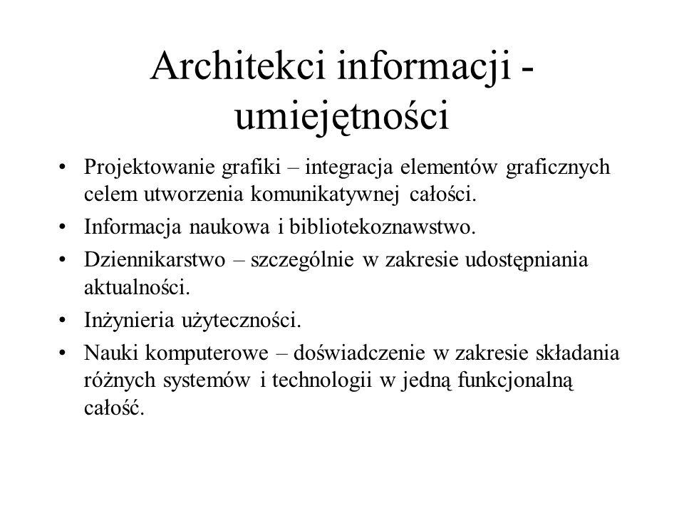 Architekci informacji - umiejętności