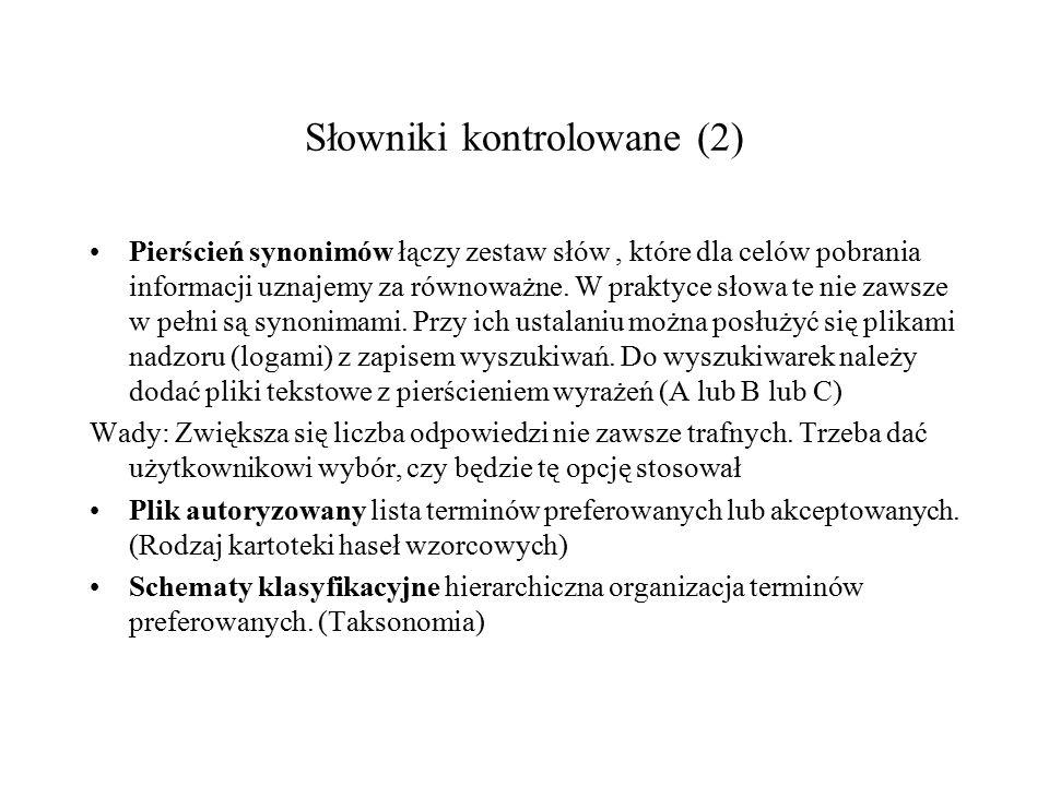Słowniki kontrolowane (2)