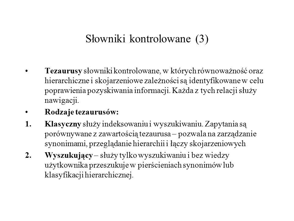 Słowniki kontrolowane (3)