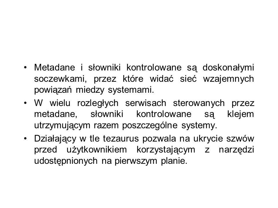 Metadane i słowniki kontrolowane są doskonałymi soczewkami, przez które widać sieć wzajemnych powiązań miedzy systemami.
