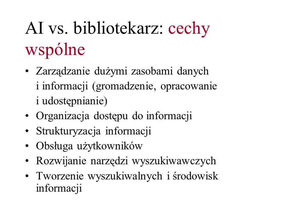 AI vs. bibliotekarz: cechy wspólne