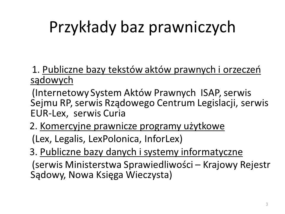 Przykłady baz prawniczych