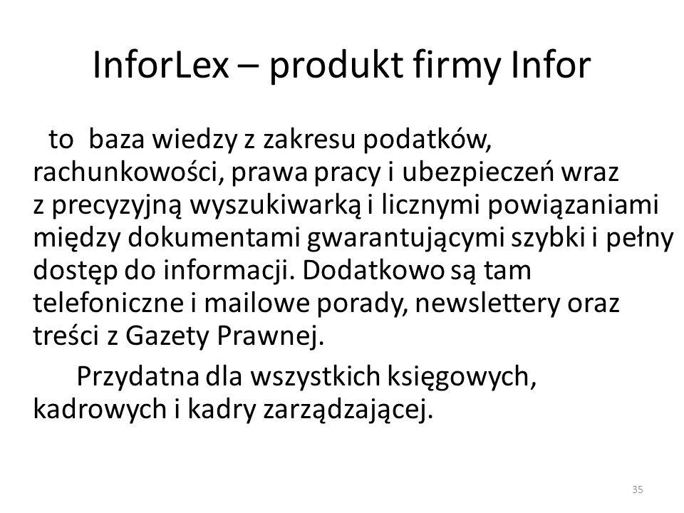 InforLex – produkt firmy Infor