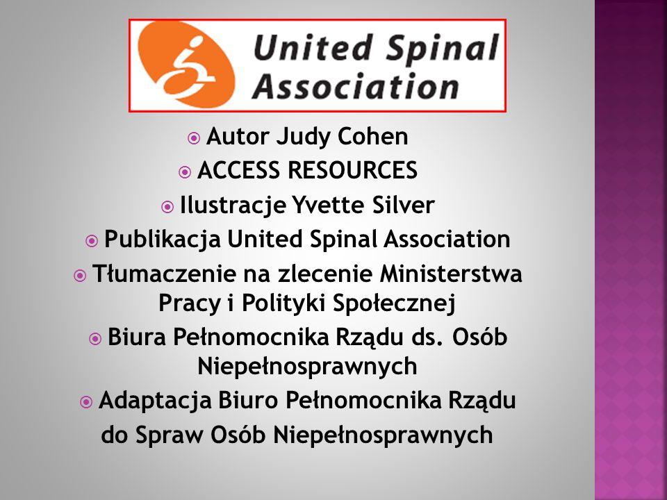 Ilustracje Yvette Silver Publikacja United Spinal Association