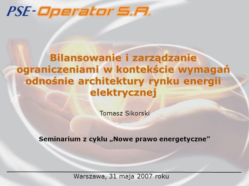 """Seminarium z cyklu """"Nowe prawo energetyczne"""