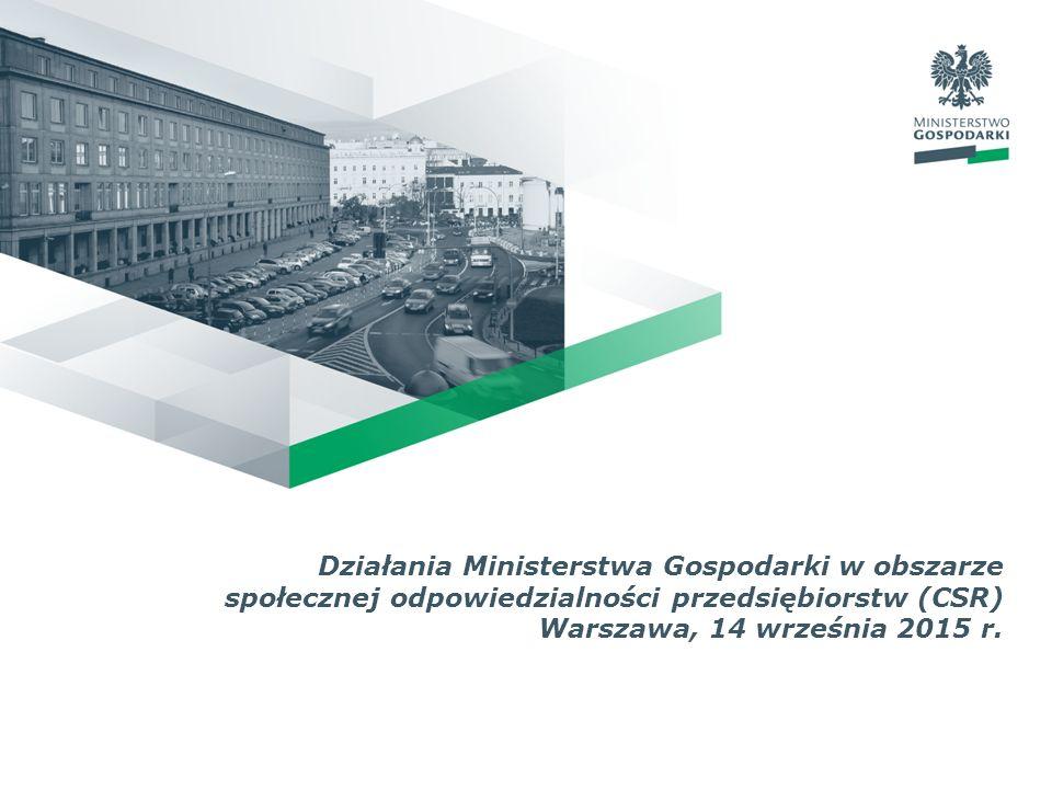 Działania Ministerstwa Gospodarki w obszarze