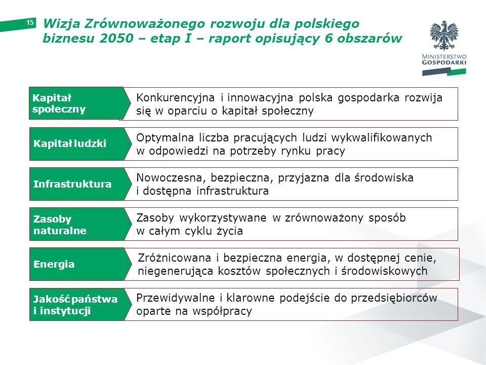 Wizja Zrównoważonego rozwoju dla polskiego biznesu 2050 – etap I – raport opisujący 6 obszarów