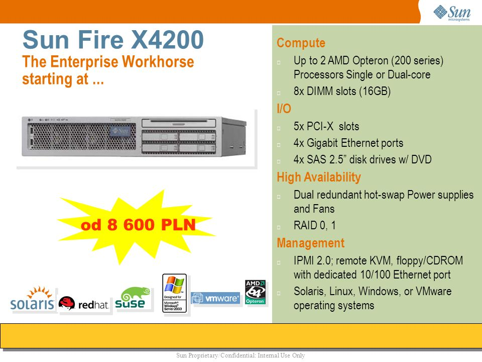 Sun Fire X4200 The Enterprise Workhorse starting at ...