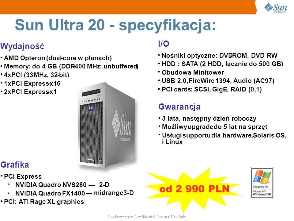 Sun Ultra 20 - specyfikacja: