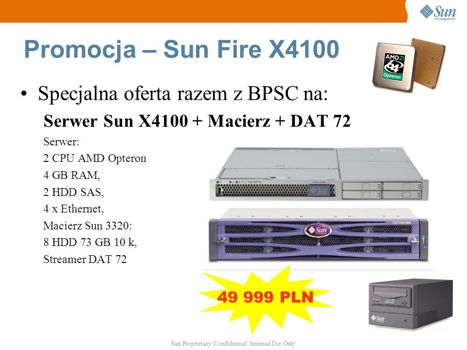 Promocja – Sun Fire X4100 Specjalna oferta razem z BPSC na: