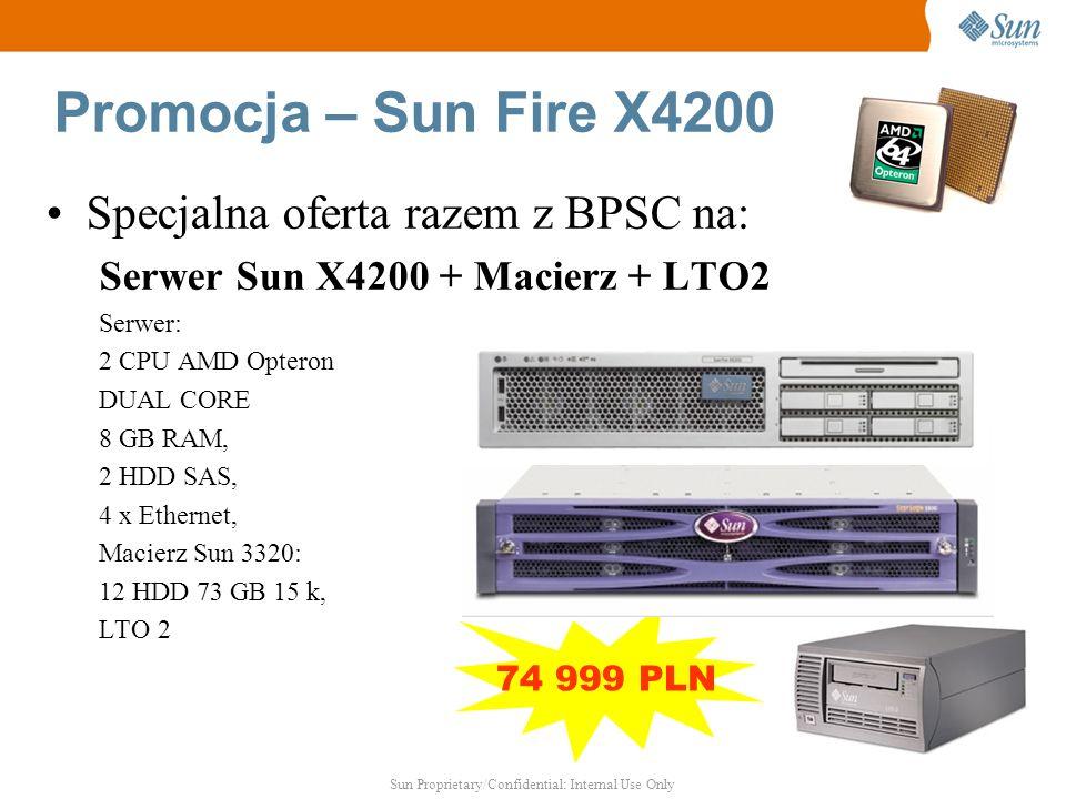 Promocja – Sun Fire X4200 Specjalna oferta razem z BPSC na: