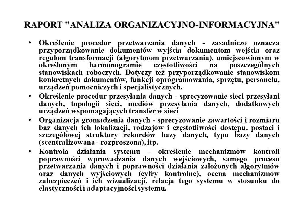RAPORT ANALIZA ORGANIZACYJNO-INFORMACYJNA