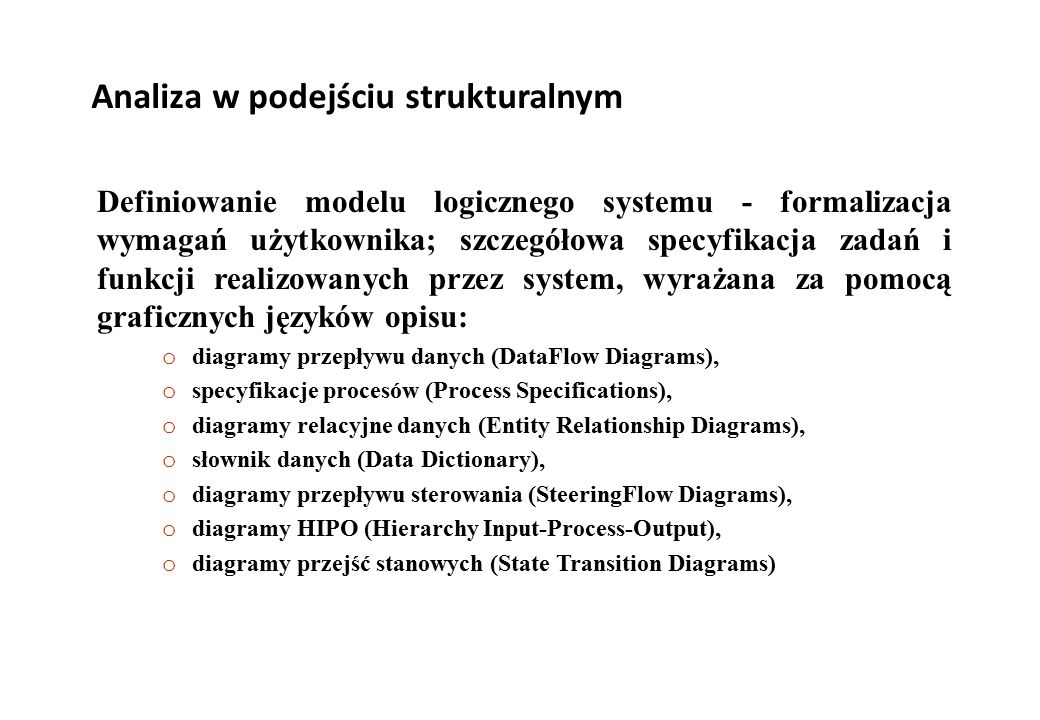 Analiza w podejściu strukturalnym