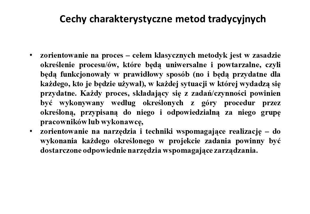 Cechy charakterystyczne metod tradycyjnych