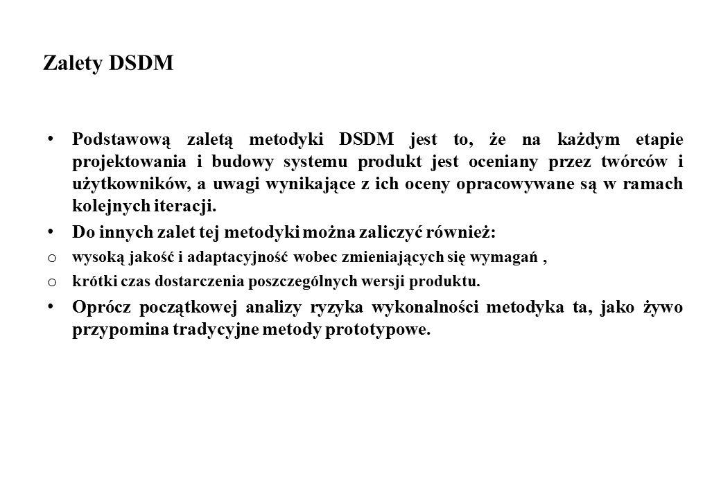 Zalety DSDM