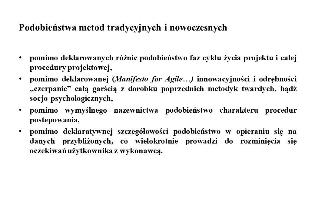 Podobieństwa metod tradycyjnych i nowoczesnych