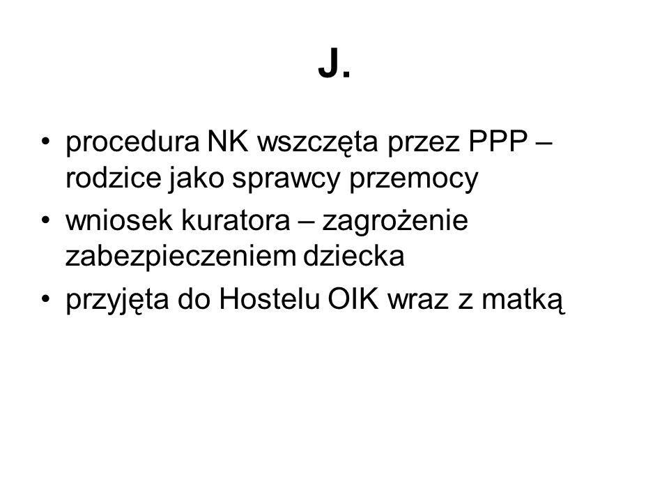J. procedura NK wszczęta przez PPP – rodzice jako sprawcy przemocy