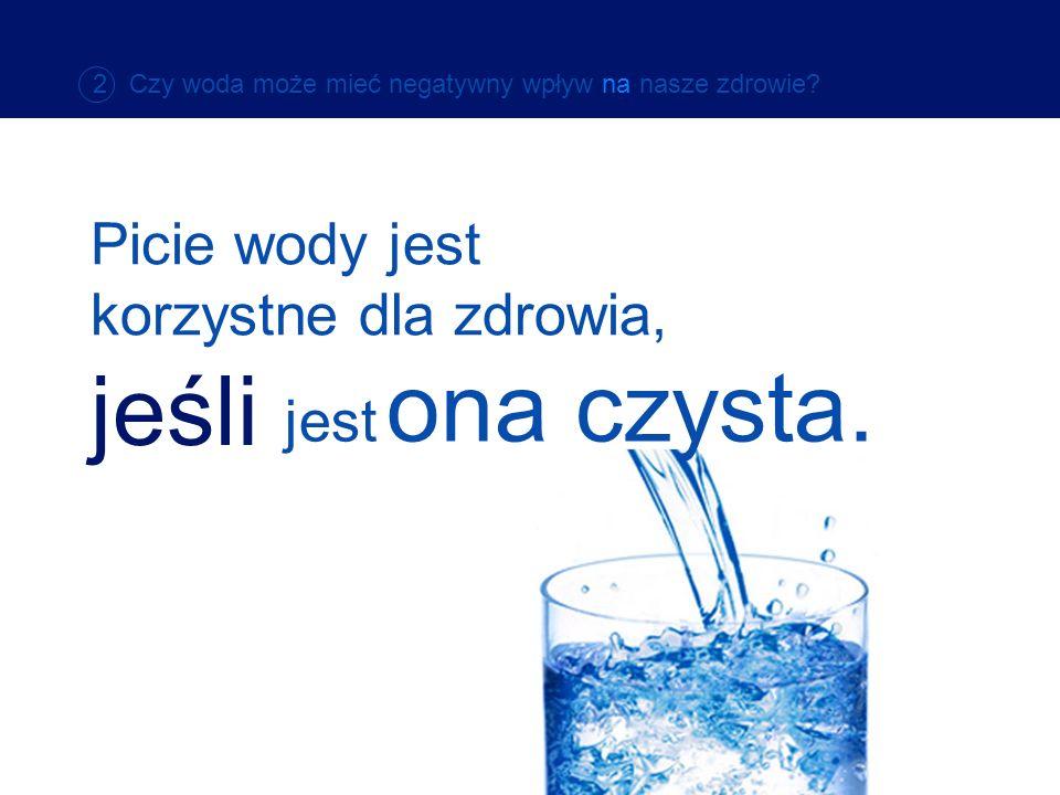 jeśli Picie wody jest korzystne dla zdrowia, jest ona czysta.
