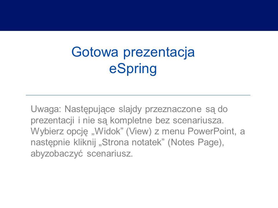 Gotowa prezentacja eSpring
