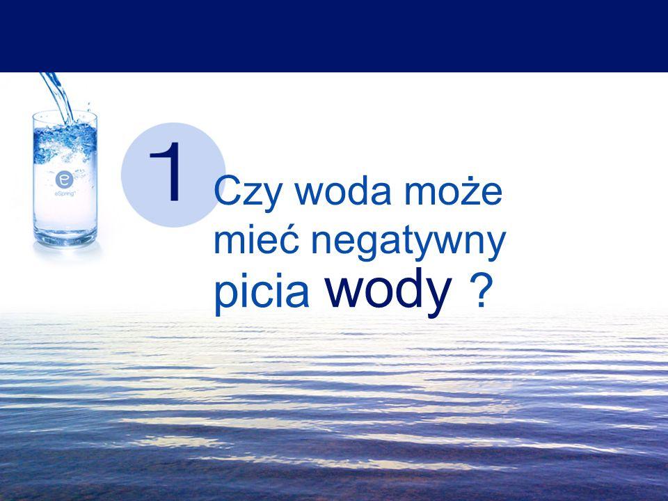 Czy woda może mieć negatywny