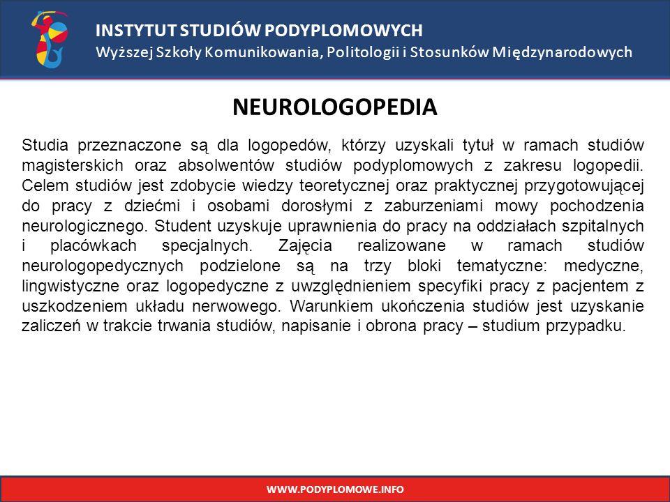 NEUROLOGOPEDIA INSTYTUT STUDIÓW PODYPLOMOWYCH