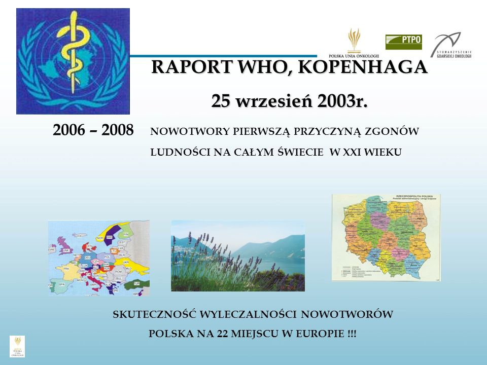 RAPORT WHO, KOPENHAGA 25 wrzesień 2003r.