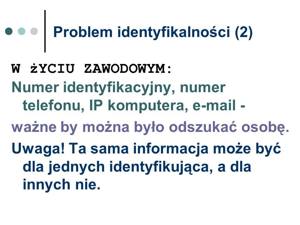 Problem identyfikalności (2)