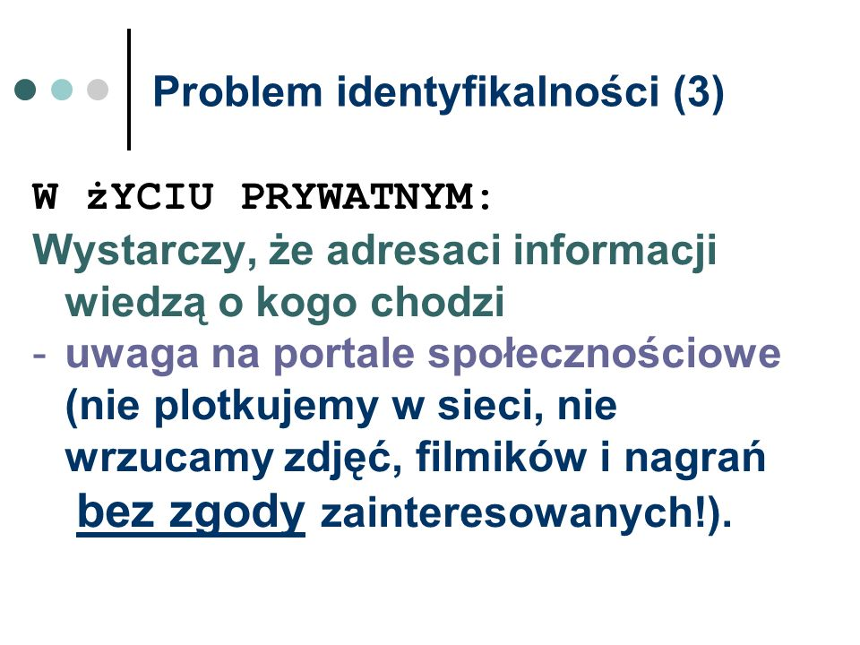 Problem identyfikalności (3)