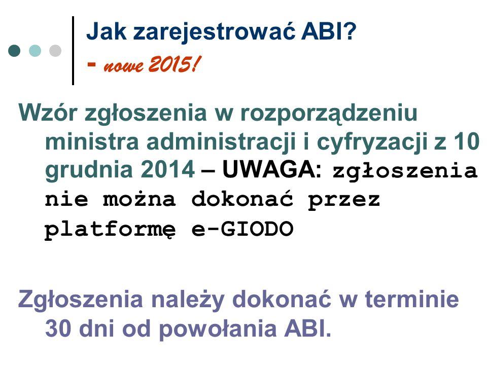 Jak zarejestrować ABI - nowe 2015!