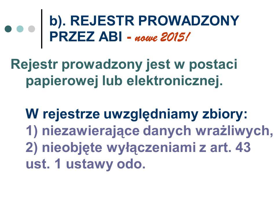 b). REJESTR PROWADZONY PRZEZ ABI - nowe 2015!
